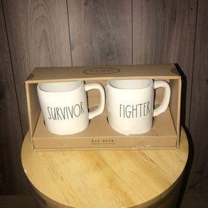 Rae Dunn Coffee Mug Set
